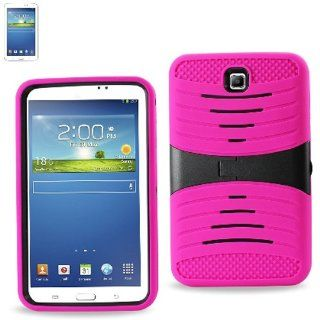 "[Rhino] Hot Pink Heavy Duty rugged impact Hybrid Case with Build In Kickstand Protective Case For Samsung Tablet Galaxy Tab 3 7"" P3200 Cell Phones & Accessories"