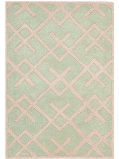 Safavieh CHT941B Chatham Collection Wool Area Rug, 2 Feet by 3 Feet, Green