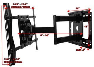 "Articulating Tilting Wall Mount Extends 24"" for Samsung LN46A950, LN46A850, LN46A750, LN46A650, LN46A550, LN40A550, LN46A530, LN40A530, PN42A450, PN42A410 Electronics"