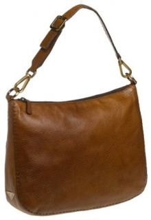 Prada Women's Large Pebbled Leather Hobo, Brown Clothing