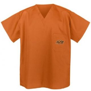 OSU Oklahoma State Scrubs Top Orange Shirt  OSU Cowboys Men Ladies Clothing