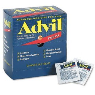 Advil Tablets Pain Reliever Refill,200 mg, 50 Two Packs per Box Health & Personal Care