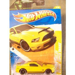 Hot Wheels 2011 New Models 2010 Ford Shelby GT 500 Super Snake on Green Lantern Card (Yellow) Mattel Toys & Games