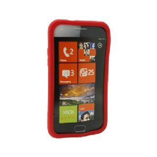 Red Soft Silicone Gel Skin Cover Case for Samsung Focus S SGH I937 Cell Phones & Accessories