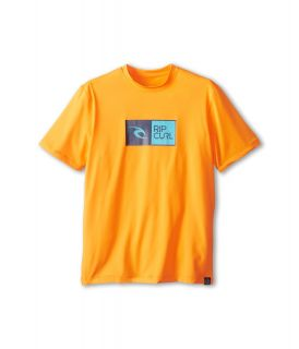 Rip Curl Kids Ripawatu S/S Surf Shirt Boys Swimwear (Orange)