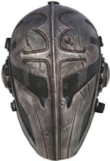 "Cactus Hobby Custom Airsoft Wire Mesh ""Templar"" Mask   (Black)  Sports & Outdoors"