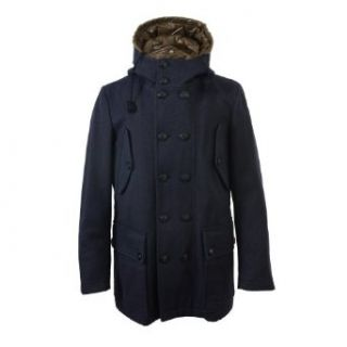 Ballantyne Men's Wool Hooded Double Breasted Jacket Coat at  Men�s Clothing store Wool Outerwear Coats
