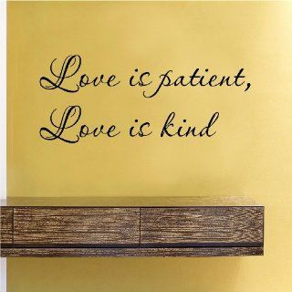 Love is patient Love is kind Vinyl Wall Decals Quotes Sayings Words Art Decor Lettering Vinyl Wall Art Inspirational Uplifting  Nursery Wall Decor  Baby