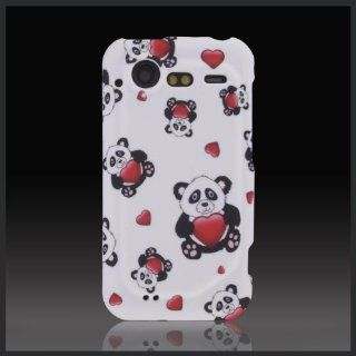 Design Cute Panda Bears Hearts cool hard case cover for HTC Droid Incredible 2 2S G11 6350 S710 Cell Phones & Accessories