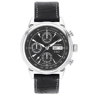 Accutron Men's 26C10 Gemini Automatic Chronograph Leather Watch Watches
