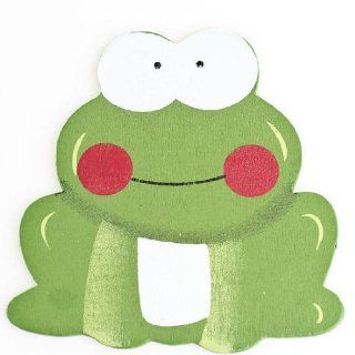 Adorable Painted Wood Frog Cutouts for Decorating for Baby Shower or Embellishing Scrapbook Pages or Crafts   Package of 12   Christmas Ornaments