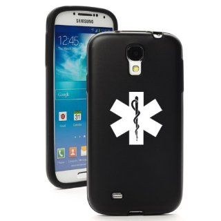 Black Samsung Galaxy S4 S IV i9500 Aluminum & Silicone Hard Back Case Cover KA1281 Star of Life EMT Cell Phones & Accessories