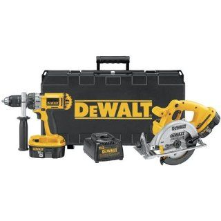 Factory Reconditioned DEWALT DC987SAR Heavy Duty 18 Volt Ni Cad Cordless 2 Tool Combo Kit   Power Tool Combo Packs