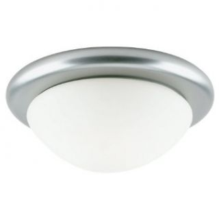 Sea Gull Lighting 53069 962 Single Light Ceiling Fixture, Satin White Glass and Brushed Nickel   Close To Ceiling Light Fixtures
