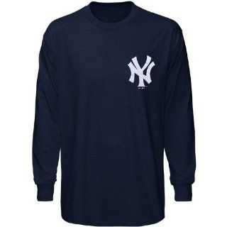 MLB Majestic New York Yankees Navy Blue Wordmark Long Sleeve T shirt (XX Large)  Sports & Outdoors
