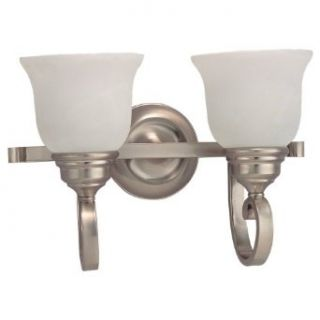 Sea Gull Lighting 49059BLE 962 Two Light Energy Star Compliant Wall/Bath Fixture, Brushed Nickel Finish   Wall Porch Lights