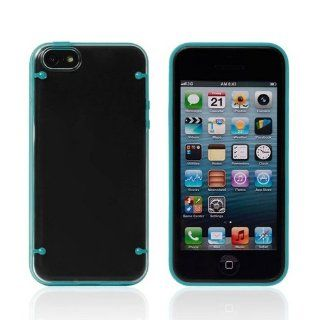 JBG Blue Frame Iphone 5C New Fashion Popular Style Hybrid Matte Hard Transparent PC + TPU Soft Gel Case Protective Cover for Apple iphone 5C Cell Phones & Accessories