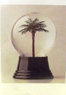Palm Tree Snow Globe Christmas Cards 10pk  Greeting Cards