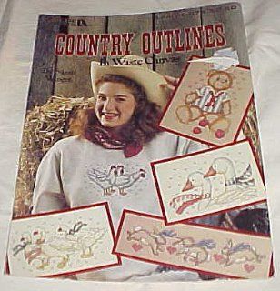Leisure Arts Country Outlines In Waste Canvas Cross Stitch Leaflet 974 Craft Magazine 1990 Susan Winget Books