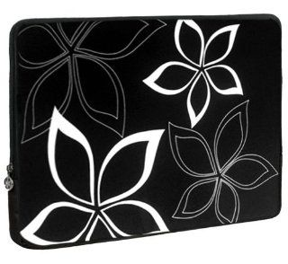 13 inch Black and White Abstract Floral Laptop Sleeve Computer Notebook Carrying Case for Apple MacBook Air 13, Dell, Acer, Samsung Computers & Accessories