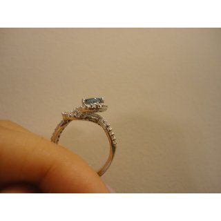 Gracefully Exquisite 1.00 Carats London Blue Topaz Ring in Sterling Silver Rhodium Nickel Finish Size 5 to 9 Jewelry