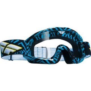 Fly Racing Zone Adult Motocross/Off Road/Dirt Bike Motorcycle Goggles Eyewear   Blue/Black/Clear / One Size Automotive