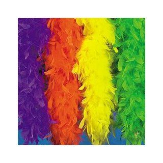 Neon Green Feather Boa (6 Pcs)   Bulk [Toy]