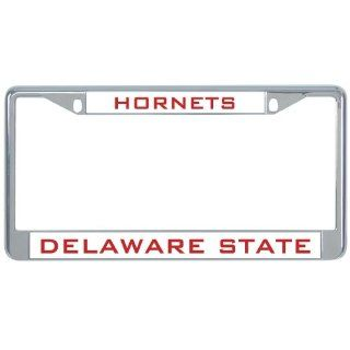 Delaware State Metal License Plate Frame in Chrome 'Hornets'  Sports Fan License Plate Frames  Sports & Outdoors