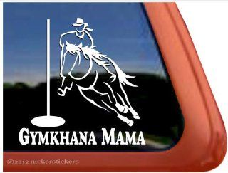 Gymkhana Mama ~ Pole Bending Horse Trailer Vinyl Window Decal Sticker Automotive