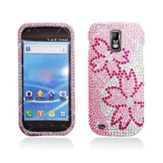 Pink Silver Flower Bling Gem Jeweled Crystal Cover Case for Samsung Galaxy S2 S II T Mobile T989 SGH T989 Hercules Cell Phones & Accessories