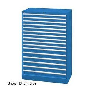 "Lista 40 1/4""W Cabinet, 16 Drawer, 270 Compart   Bright Blue, Keyed Alike   Tool Cabinets"