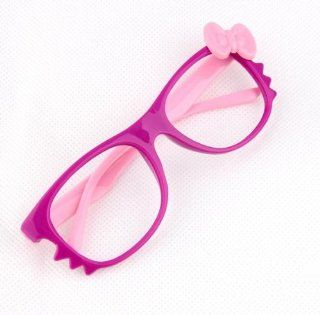 FancyG� Cute Bow Tie Cat Eyes Nerd Glass Frame for Kids Girl Purple Pink NO LENS  Children S Glasses