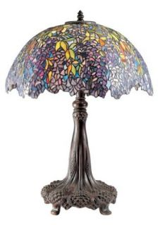 Quoizel TF6034R Laburnum Tiffany Table Lamp, Architectural Bronze