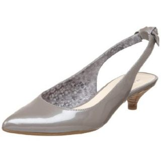 AK Anne Klein Women's Pipa Low Slingback Pump ,Grey Patent,5 M US Shoes