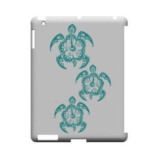 [Geeks Designer Line] Aqua Island Turtle Trail Apple iPad 2nd Gen Plastic Case Cover [Anti Slip] Supports Premium High Definition Anti Scratch Screen Protector; Durable Fashion Snap on Hard Case; Coolest Ultra Slim Case Cover for iPad 2nd Gen Supports Appl
