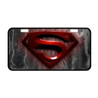 "PanBox COOL Superman Logo Front License Plate Cover Frame Auto Vehicle Car Front Protector   Size12"" X 6""  Consumerelectronics  Sports & Outdoors"