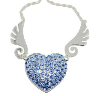 Crystal Jewelry Heart USB Flash Pen Drive U Disk Pandent for Necklace 8GB 16GB 32GB (32GB) Computers & Accessories