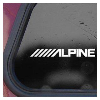 Alpinestars White Sticker Decal Alpine Amp Laptop Die cut White Sticker Decal Automotive