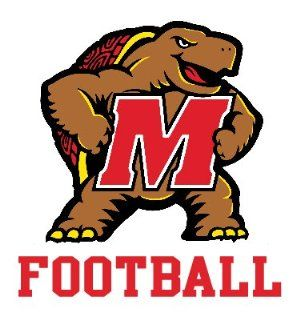 UNIVERSITY OF MARYLAND TERRAPINS FOOTBALL clear vinyl decal car truck sticker