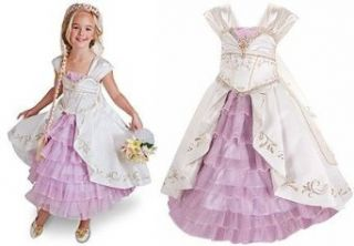 Limited Edition Tangled Ever After Rapunzel Wedding Gown Halloween Costume Dress for Girls Size 5 Clothing