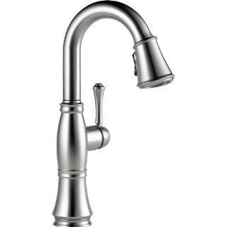 Delta Faucet 9997 AR DST Cassidy, Single Handle Bar/Prep Faucet, Arctic Stainless   Touch On Kitchen Sink Faucets