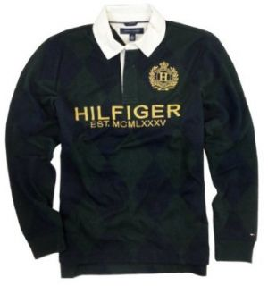Tommy Hilfiger Mens Heritage Argyle Rugby Shirt (Small) at  Men�s Clothing store