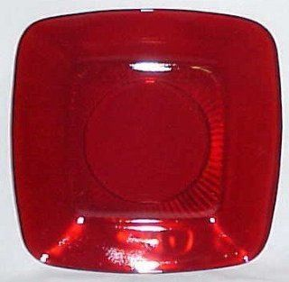 Ruby Red Fire King Charm Luncheon Plate Anchor Hocking Glass Company  Other Products