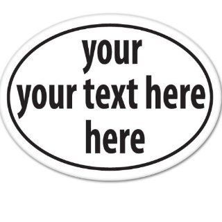 OVAL CUSTOM TEXT ANY SIZE any LOGO any Quan Office Motivation Car Sticker Decal Phone Small 5""