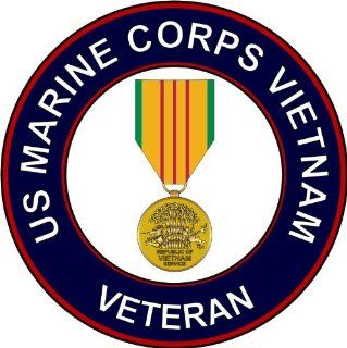 US Marine Corps Vietnam Veteran Decal Sticker 3.8""