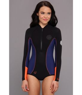 Rip Curl G Bomb 1MM L/S Spring Suit High Cut Womens Wetsuits One Piece (Multi)