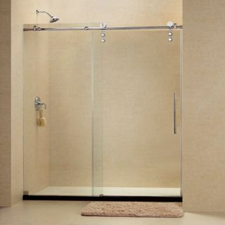 Dreamline SHDR624876008 Frameless Shower Door, 44 to 48 EnigmaZ Sliding, Clear 3/8 Glass Polished Stainless Steel