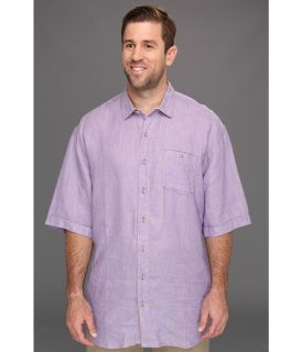 Tommy Bahama Big & Tall Big Tall Party Breezer S/S Shirt Mens Short Sleeve Button Up (Purple)