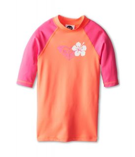 Roxy Kids Island Fever S/S Surf Shirt Girls Swimwear (Pink)