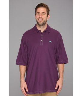 Tommy Bahama Big & Tall Big Tall Emfielder Polo Shirt Mens Short Sleeve Pullover (Purple)